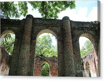 Civil War Site Canvas Print - Light Above The Ruins by Carol Groenen