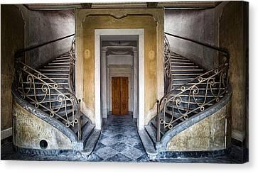 Light Above The Stairs - Urban Exploration Canvas Print