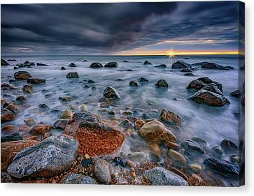 Light And Dark At Montauk Point Canvas Print