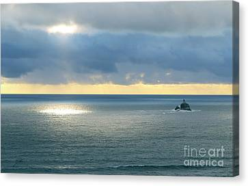 Canvas Print featuring the photograph Light And Lighthouse by Suzette Kallen