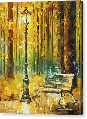 Light And Passion Canvas Print by Leonid Afremov