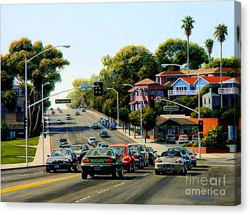 Pch Canvas Print - Light At Broadway Laguna by Frank Dalton