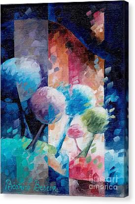 Inspirational. Pointillism Canvas Print - Light by Beatrice BEDEUR