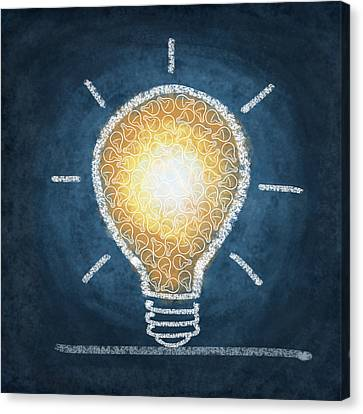 Light Canvas Print - Light Bulb Design by Setsiri Silapasuwanchai