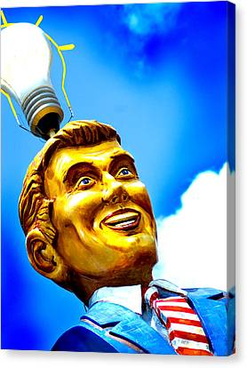 Light Bulb Man Canvas Print by John Gusky