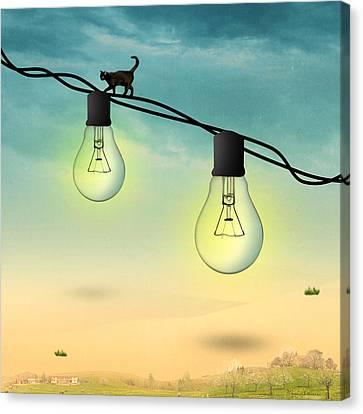 Light Bulb Canvas Print by Mark Ashkenazi