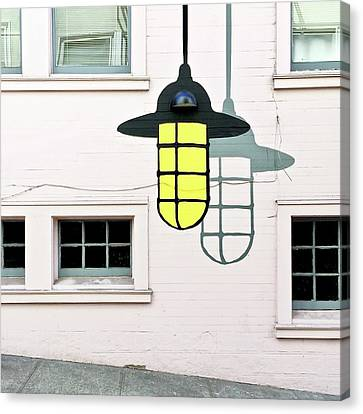 Light Bulb Mural Canvas Print by Julie Gebhardt