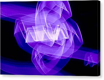 Canvas Print featuring the photograph Light Bulb Purple by Kevin Blackburn