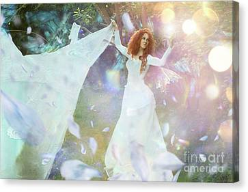 Light Fairy Canvas Print by Angel Tarantella