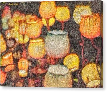 Light Flowers - Da Canvas Print by Leonardo Digenio