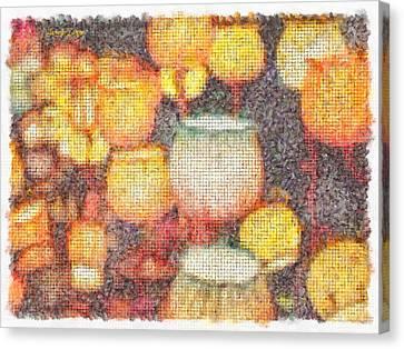 Light Flowers Orange - Da Canvas Print by Leonardo Digenio