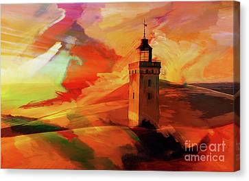Light House In A Desert 03 Canvas Print by Gull G