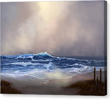Light In The Storm Canvas Print by Sena Wilson