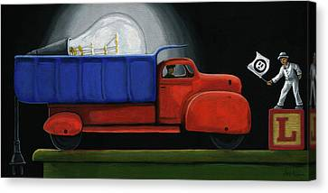 Light Load - Narrative Painting Canvas Print by Linda Apple