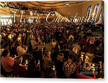 Canvas Print featuring the photograph Light Of Christmas by Anthony Baatz