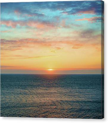 Light Of Day - Ocean Sunset Sunrise Canvas Print by Gregory Ballos