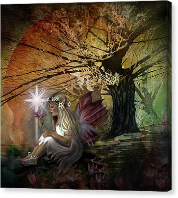 Light Of Earendil Canvas Print by Debra and Dave Vanderlaan