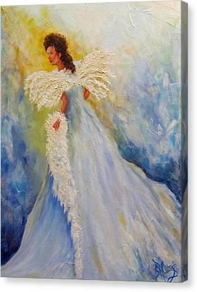 Light Of Grace,angel Canvas Print
