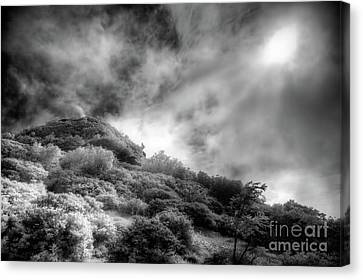 Canvas Print featuring the photograph Light Of Hope On Craggy Dome by Dan Carmichael