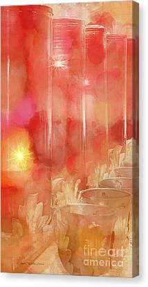 Flickering Light Canvas Print - Light Of Mercy by Jean OKeeffe Macro Abundance Art