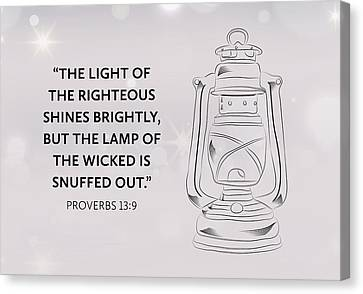 Light Of Righteous Canvas Print