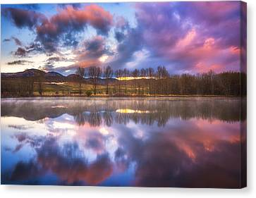 Light Of The Lake Canvas Print by Darren  White