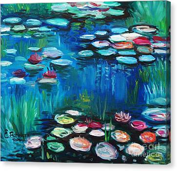 Canvas Print featuring the painting Light Of The Lillies by Elizabeth Robinette Tyndall
