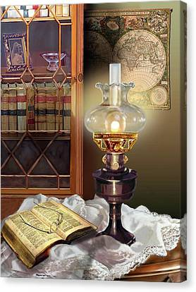 Light Of Wisdom Canvas Print by Regina Femrite