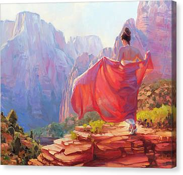 Light Of Zion Canvas Print by Steve Henderson