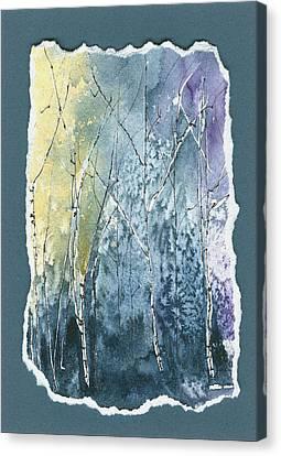 Light On Bare Trees 2 Canvas Print