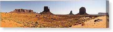 Light On Monument Valley  Canvas Print by Harold Piskiel