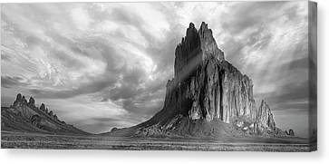 Canvas Print featuring the photograph Light On Shiprock by Jon Glaser