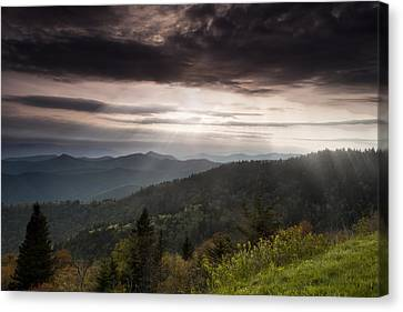 Light On The Blue Ridge Canvas Print by Andrew Soundarajan