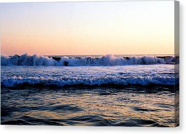 Canvas Print featuring the photograph Light On The Wave Tops 4 by Lyle Crump