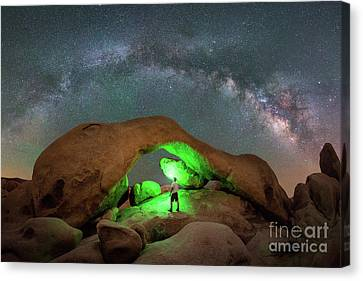 Light Painting Arch Rock Canvas Print by Michael Ver Sprill