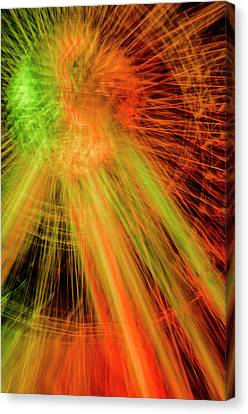 Light Painting At Night Canvas Print