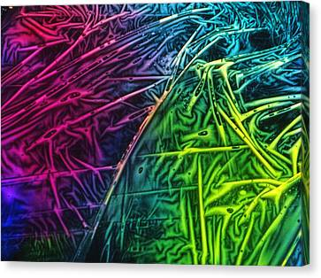 Canvas Print featuring the photograph Light Painting Colors Abstract Experimental Chemiluminescent Photography by David Mckinney