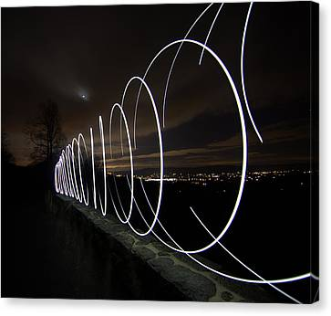 Light Painting In Snp Canvas Print by Shannon Louder