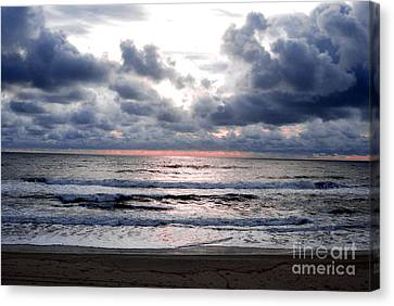 Canvas Print featuring the photograph Light Parting The Darkness by Linda Mesibov