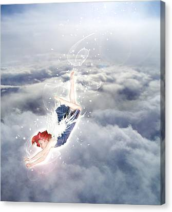 Light Play Angels Descent Canvas Print
