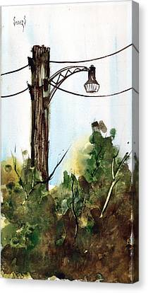 Light Pole Canvas Print by Sam Sidders