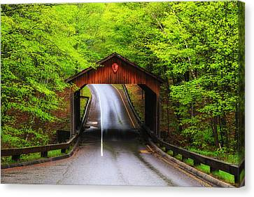 Light Rain On Pierce Stocking Drive 2 Canvas Print