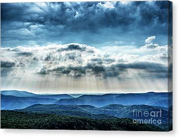 Canvas Print featuring the photograph Light Rains Down by Thomas R Fletcher
