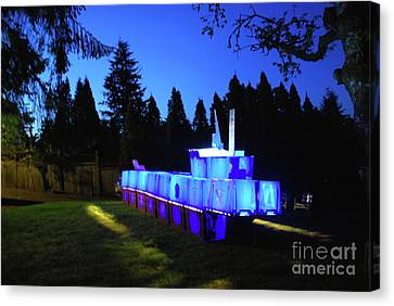 Canvas Print featuring the photograph Light Sculpture by Bill Thomson