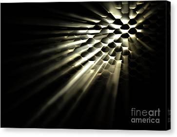 Light Shining Through Holes Canvas Print