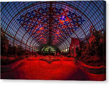 Light Show At The Conservatory Canvas Print