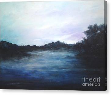 Canvas Print featuring the painting Light Sky by Rushan Ruzaick