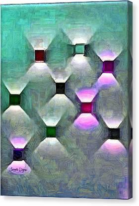 Round Canvas Print - Light Spots by Leonardo Digenio