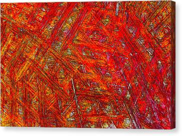 Canvas Print featuring the mixed media Light Sticks 2 by Sami Tiainen