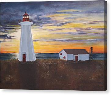 Canvas Print featuring the painting Light The Way by Diane Daigle